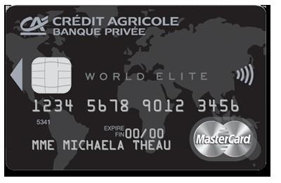 Comparatif des cartes world elite mastercard billet de - Plafond carte maestro credit agricole ...