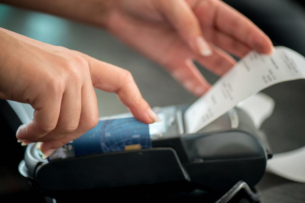 Ticket de carte bancaire