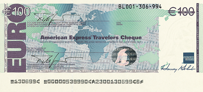 Traveller cheque