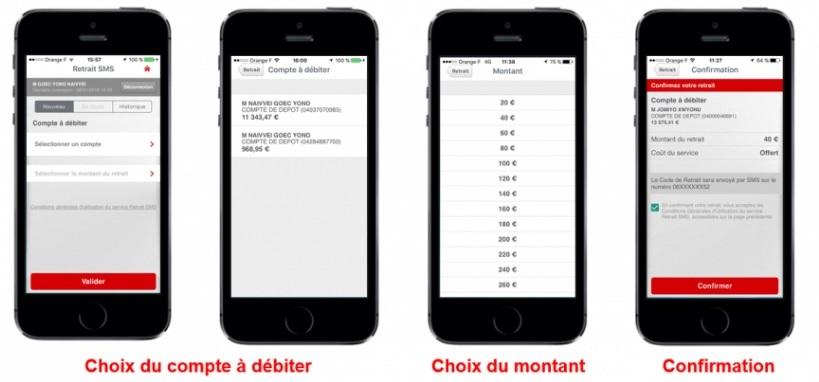 Service Retrait SMS de la Caisse d'Epargne