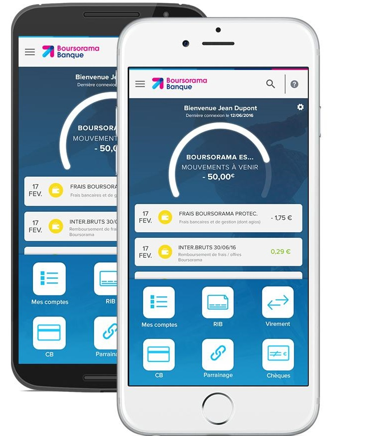 Nouvelle appli Boursorama Banque