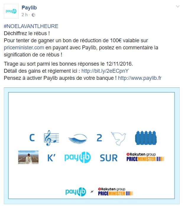Jeu Paylib et PriceMinister