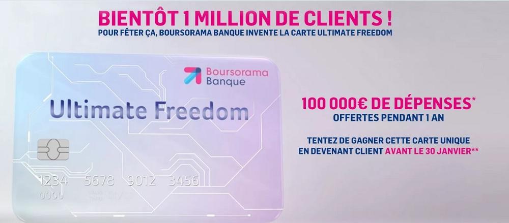 Jeu Ultimate Freedom Boursorama Banque