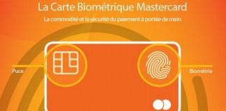 Carte bancaire biométrique MasterCard