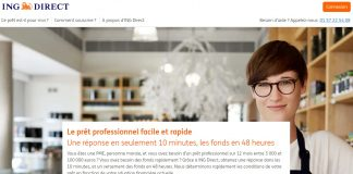 Prêt professionnel ING Direct