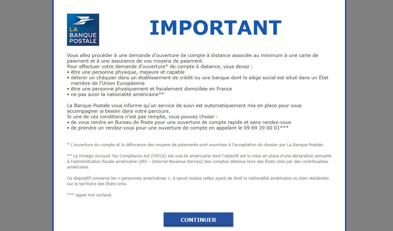 Ouvrir Un Compte A La Banque Postale Billet De Banque