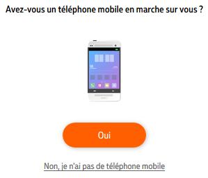 Téléphone mobile nickel