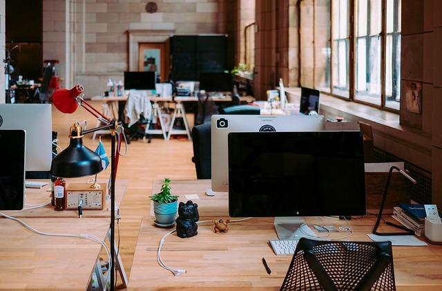 une salle de travail