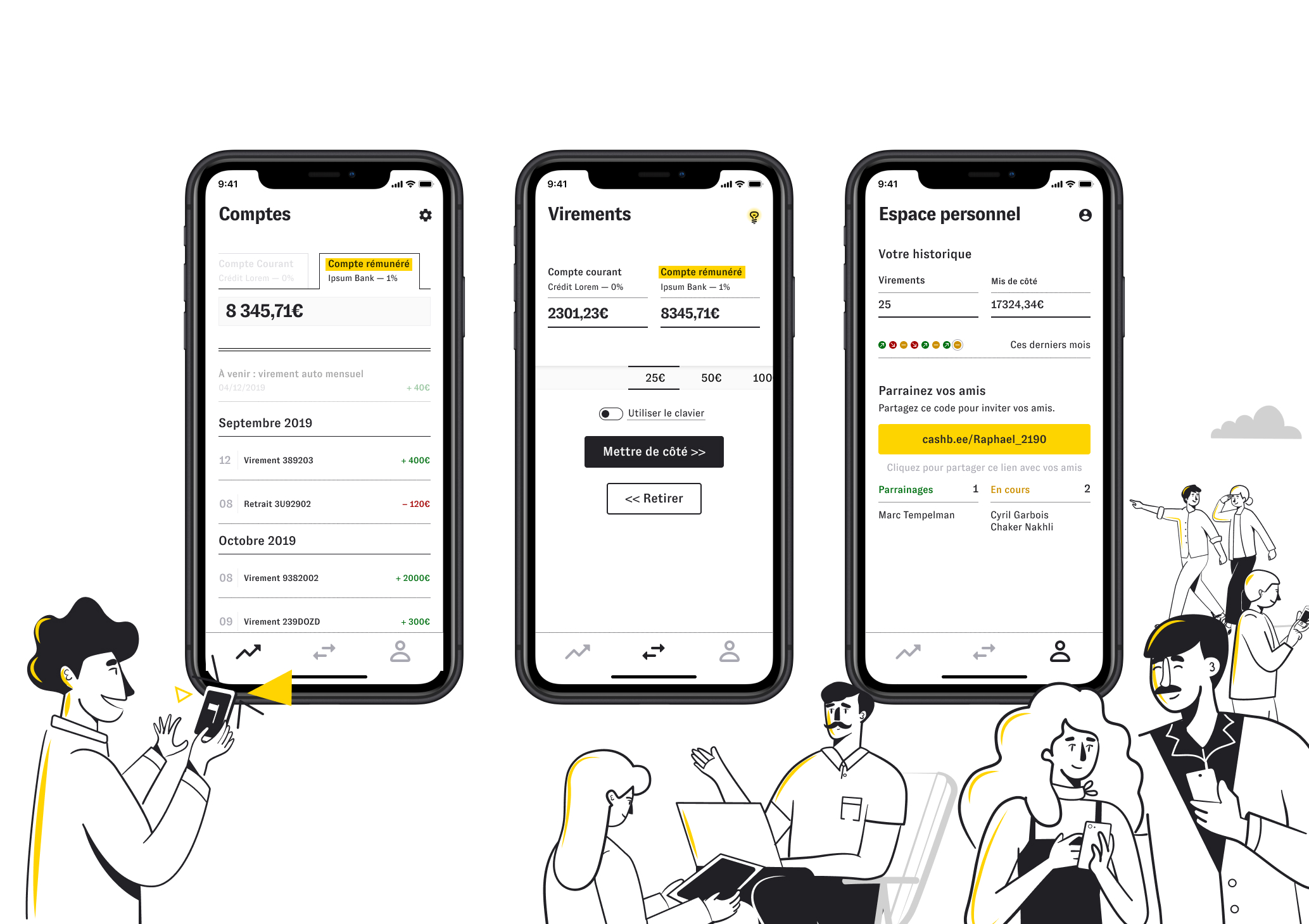 Cashbee application mobile
