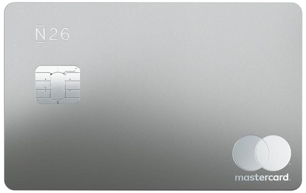 N26 Carte Metal Gris Perle