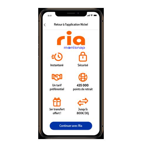 Application Nickel Ria