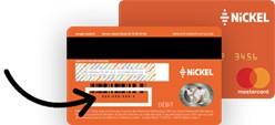 Identifiants au dos de la Carte Nickel