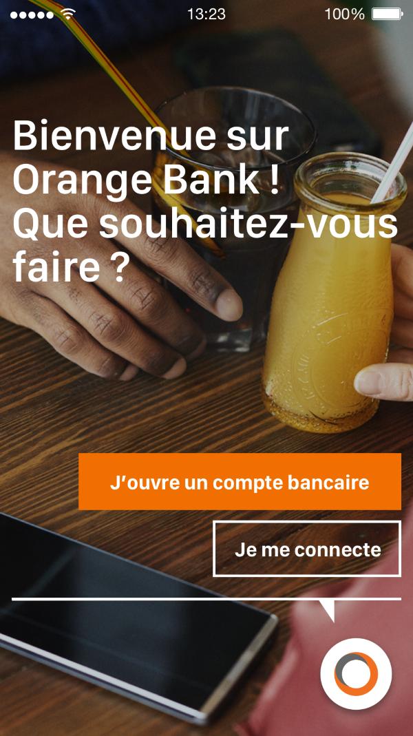Application mobile Orange Bank